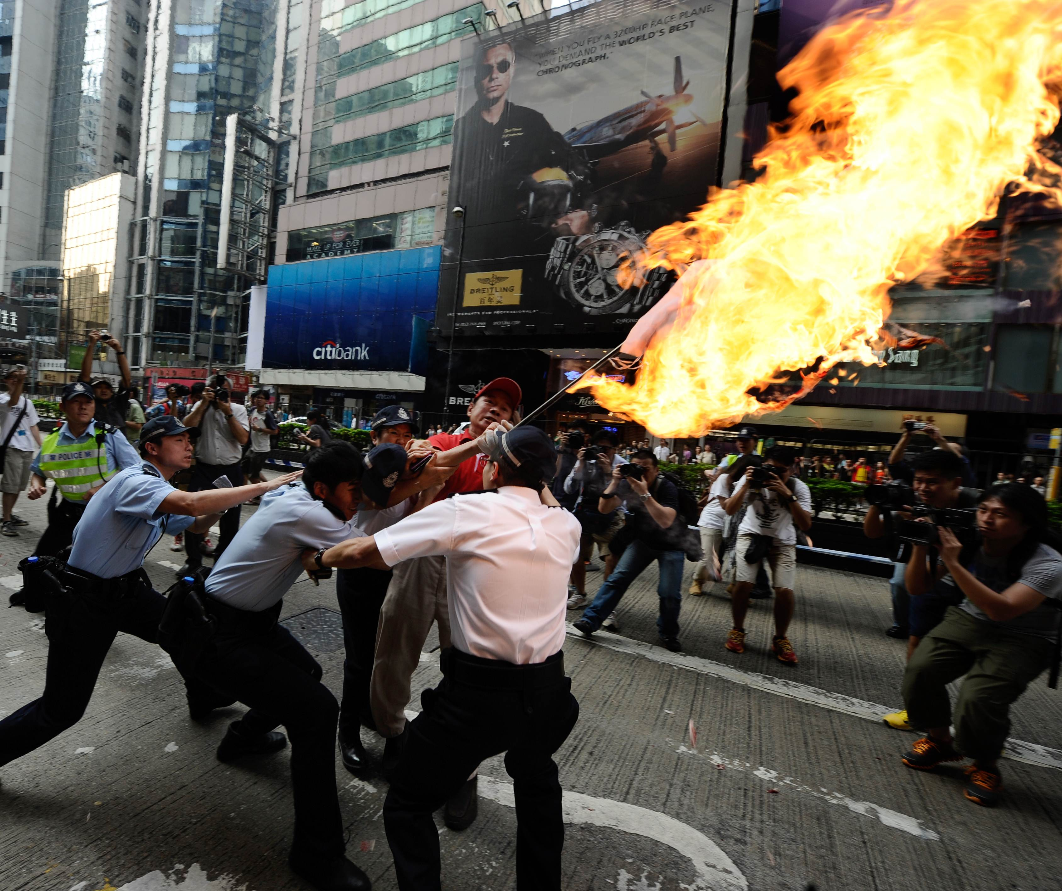 China Police: Photos: Anti-Japan Protests In China, September 16