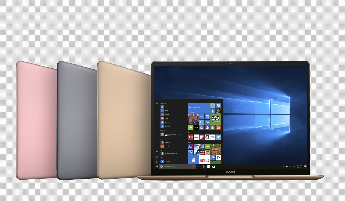 Huawei debuts in the laptop world with three new models