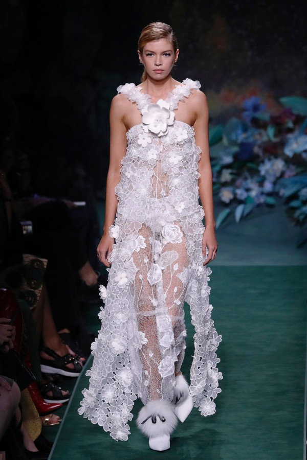 Top eight looks at Fendi\'s furry and floral haute couture show ...