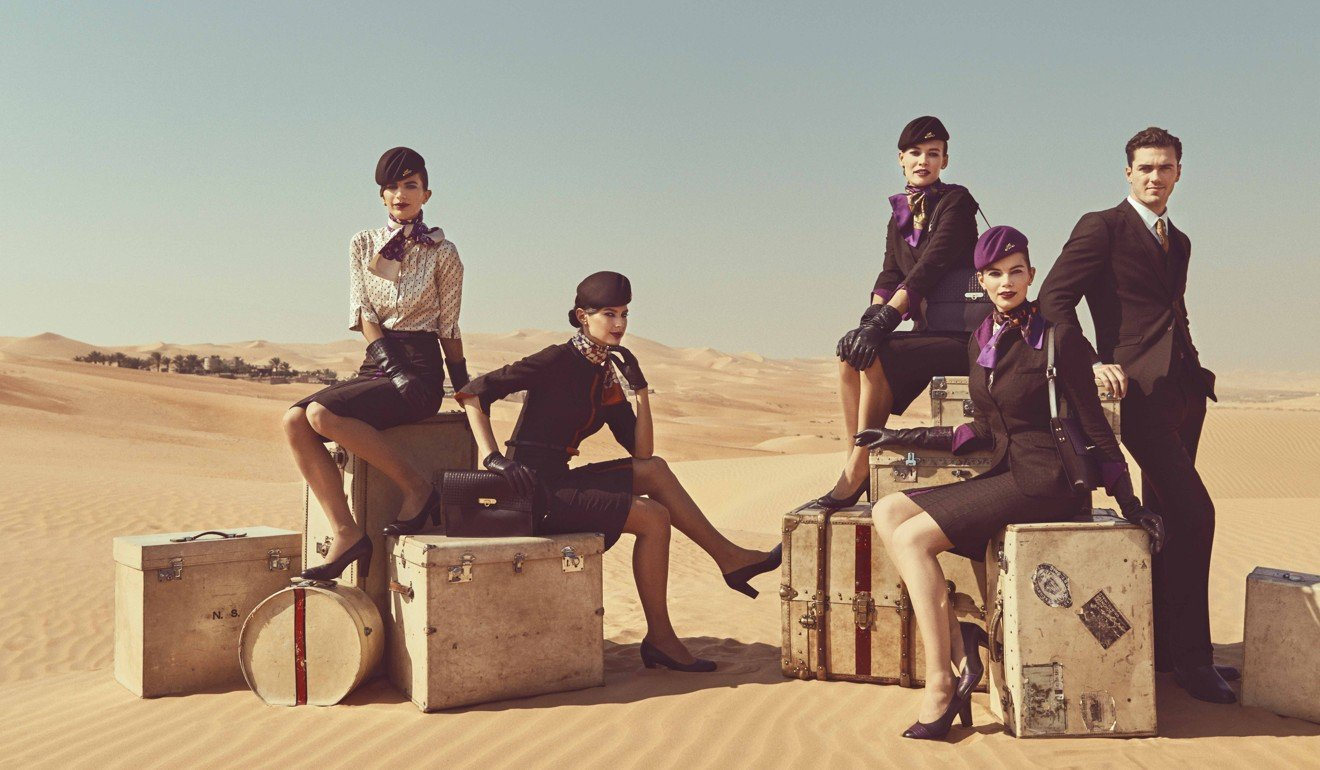 Etihad Airways uniforms combine 1960s couture and contemporary runway looks.