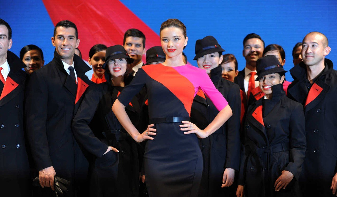 All eyes were on Australian model Miranda Kerr at the unveiling of Qantas' new uniform in 2013.