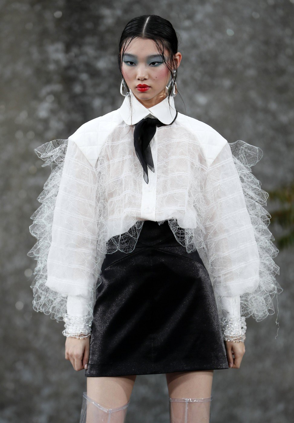 Chanel created a waterfall for its spring/summer 2018 ...