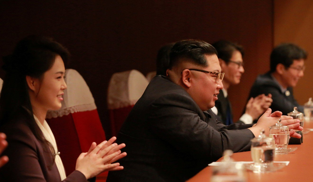 North Korean Leader Kim Jong Un And His Wife Ri Sol Ju Watch South Korean K Pop Singers Perform On Sunday Photo Reuters