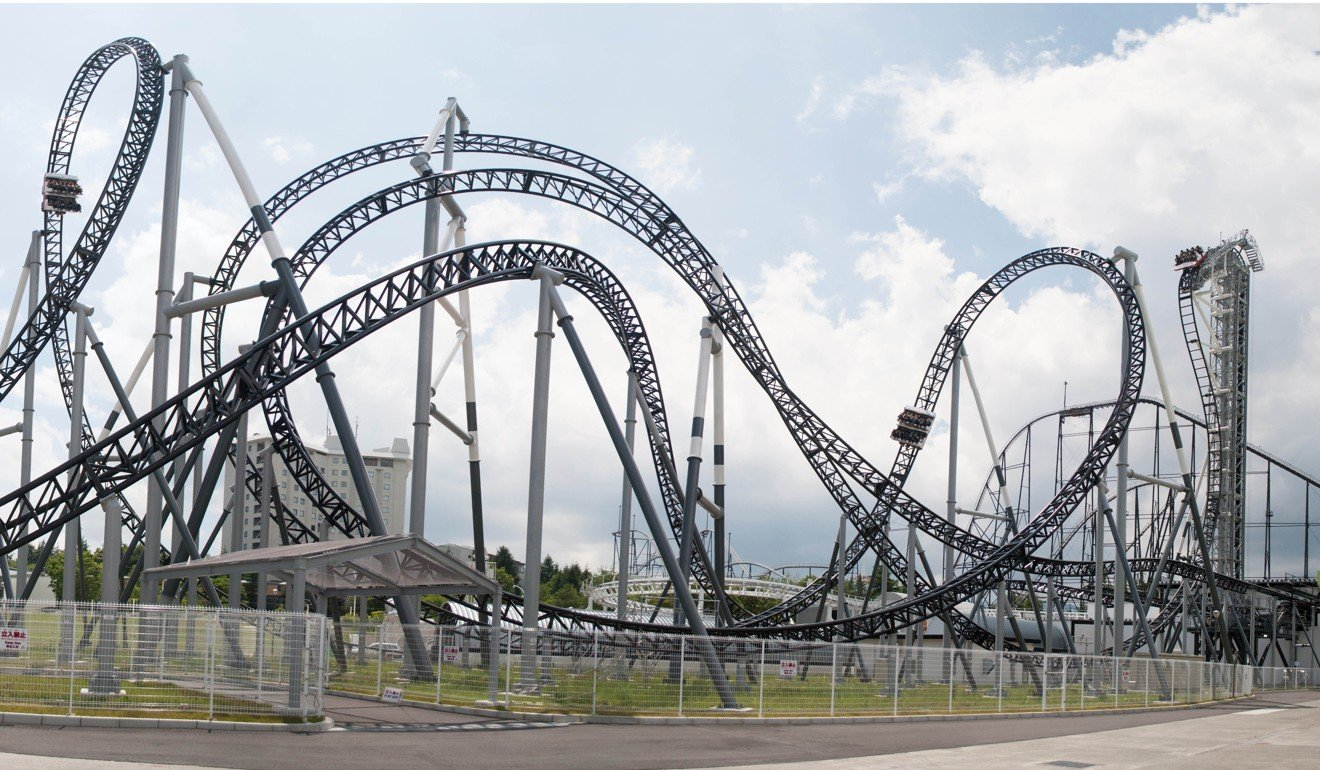 The Takabisha Roller Coaster At Fuji Q Highland Which Is Famous For Having A Section With A 121 Degree Drop The Steepest In The World