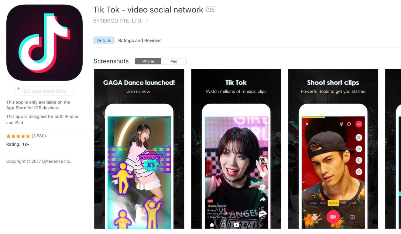 Tik Tok, currently the world's most popular iPhone app