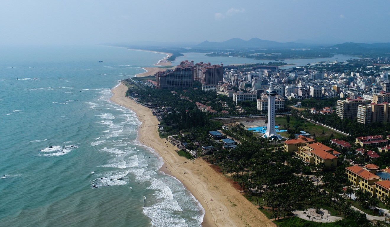 The facility is being built on the island province of Hainan, home to a major naval base. Photo: Xinhua