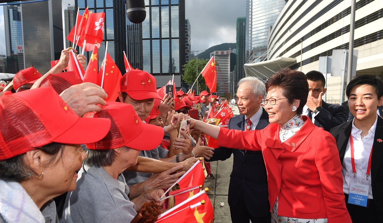 How Carrie Lam Has Become An Empress South China Morning Post Merengue Dance Steps Diagram Galleryhipcom The Hippest Galleries Greeting Crowds This Month Photo Epa Efe