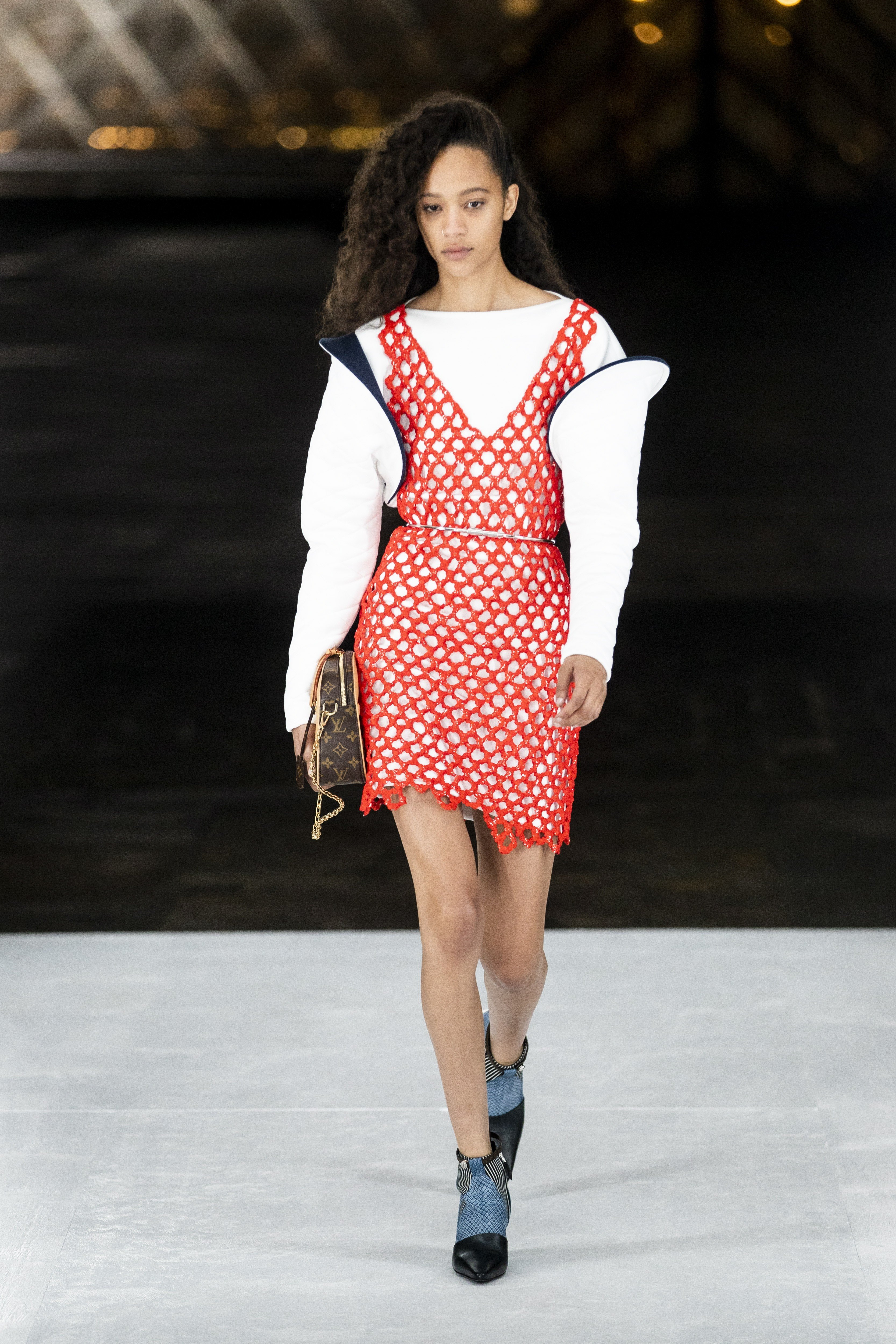9fcd2adb8f7 Nicolas Ghesquière looks to the future with space-age Louis Vuitton  creations at Paris Fashion Week