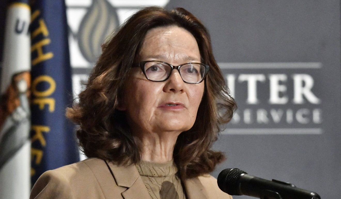 CIA director Gina Haspel addresses the audience at the University of Louisville on Monday, September 24. Haspel warned of the growing risk of Chinese espionage to American national security. Photo: AP