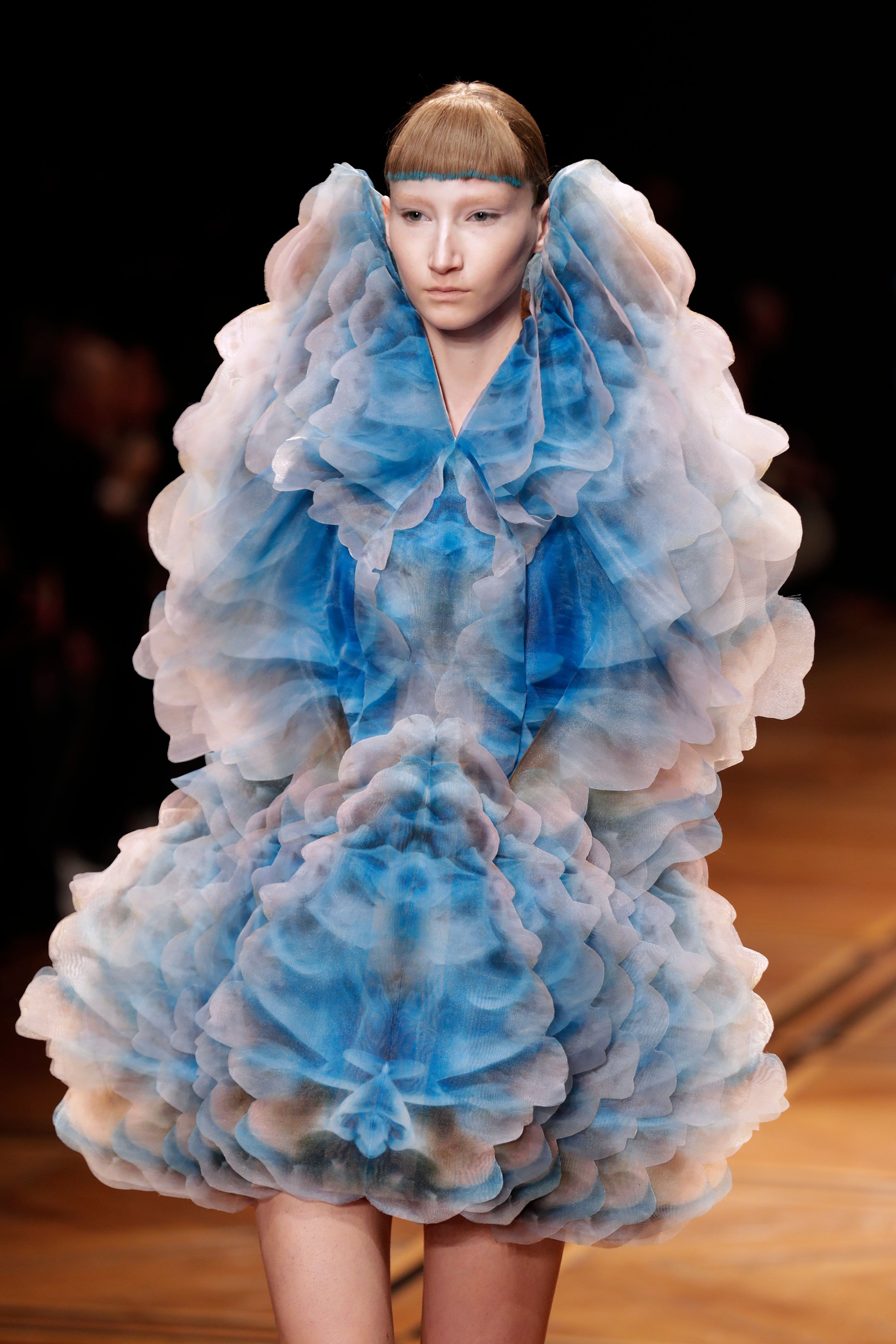 2e6f4fe1aa Paris Fashion Week  Iris van Herpen s  flowing paint  gowns and Ralph    Russo s  Hollywood  glitz prove must-see shows