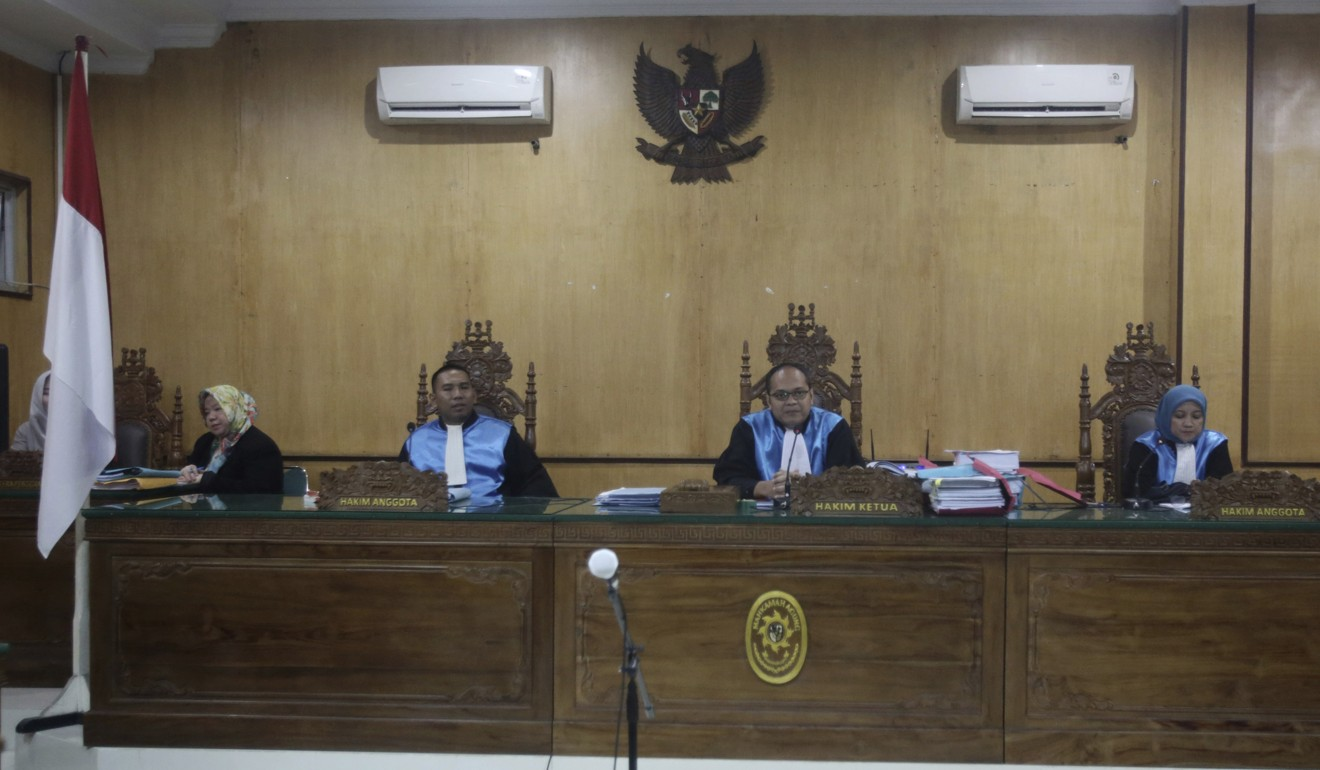 The ruling was delivered by a three-judge panel in a state administrative court in Medan. Photo: AP