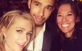 Paris Hilton snapped the selfie with Lewis Hamilton and a female friend. Photo: Instagram/Paris Hilton