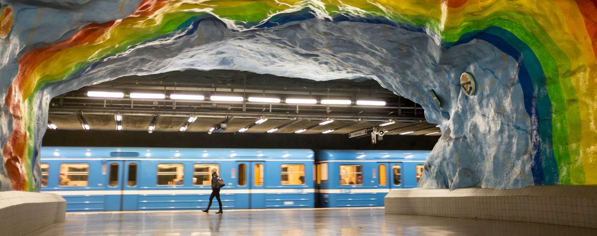 Stadion Station, on the Stockholm metro system