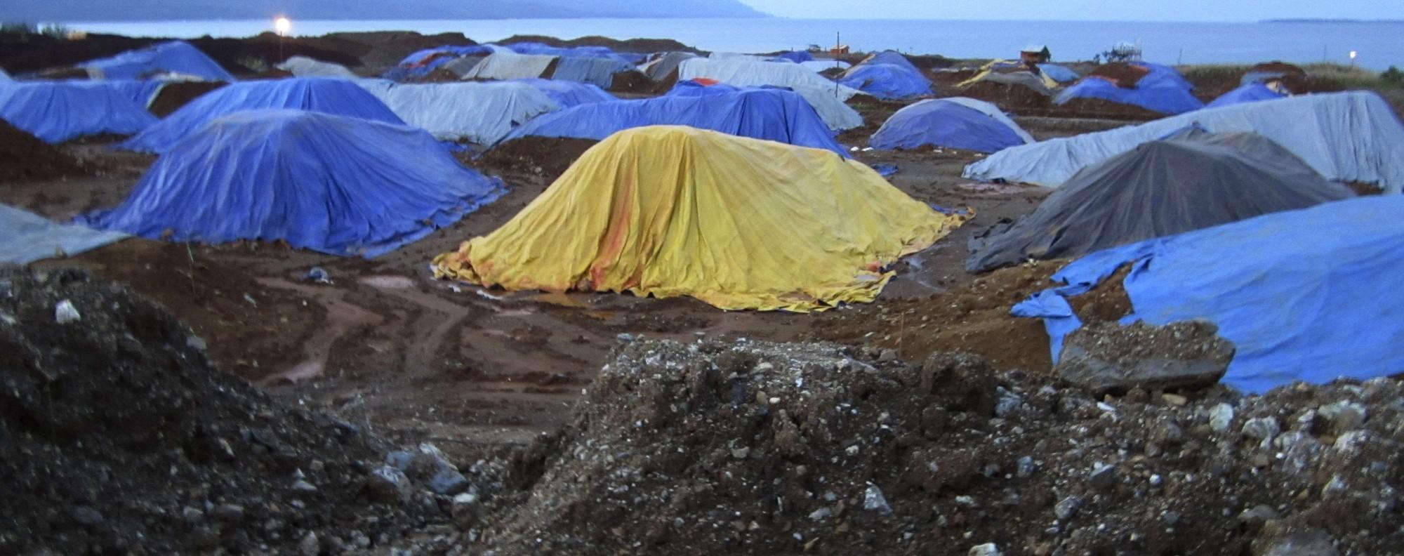 Stockpiles of nickel ore in Indonesia. Photo: Reuters
