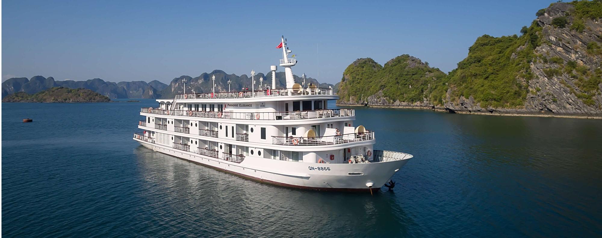 A Paradise Elegance cruise ship.