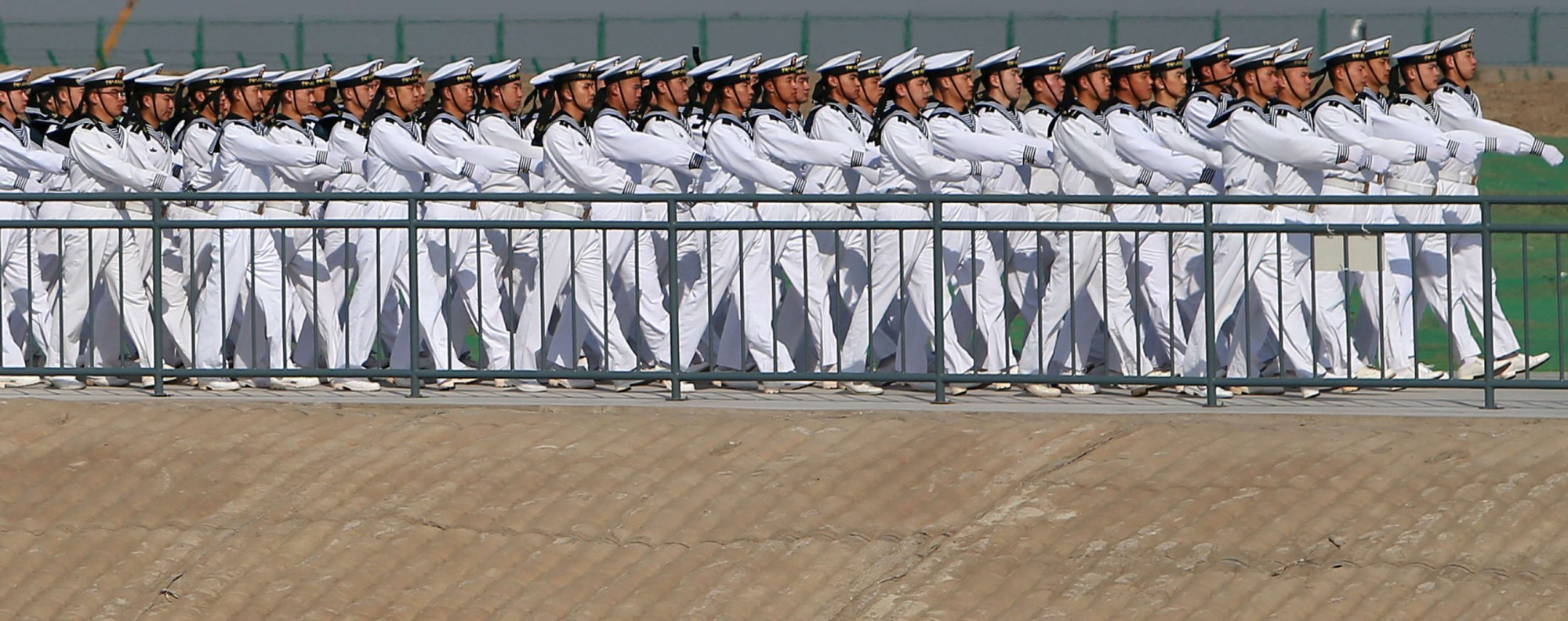 A march by the PLA navy. Photo: Reuters