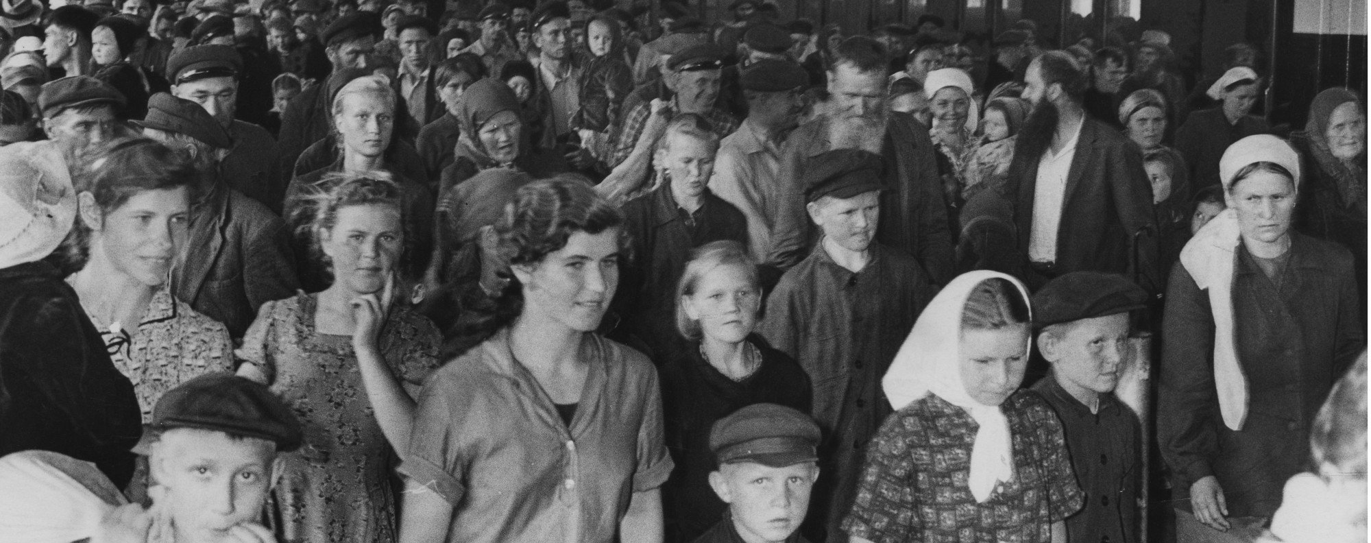 321 White Russian refugees arrive by train from China at Kowloon Railway Station on May 27, 1964.