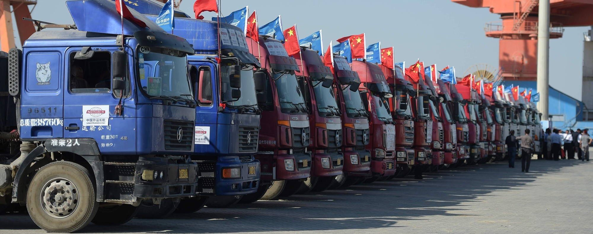 Chinese trucks at Pakistan's Gwadar port. Photo: AFP