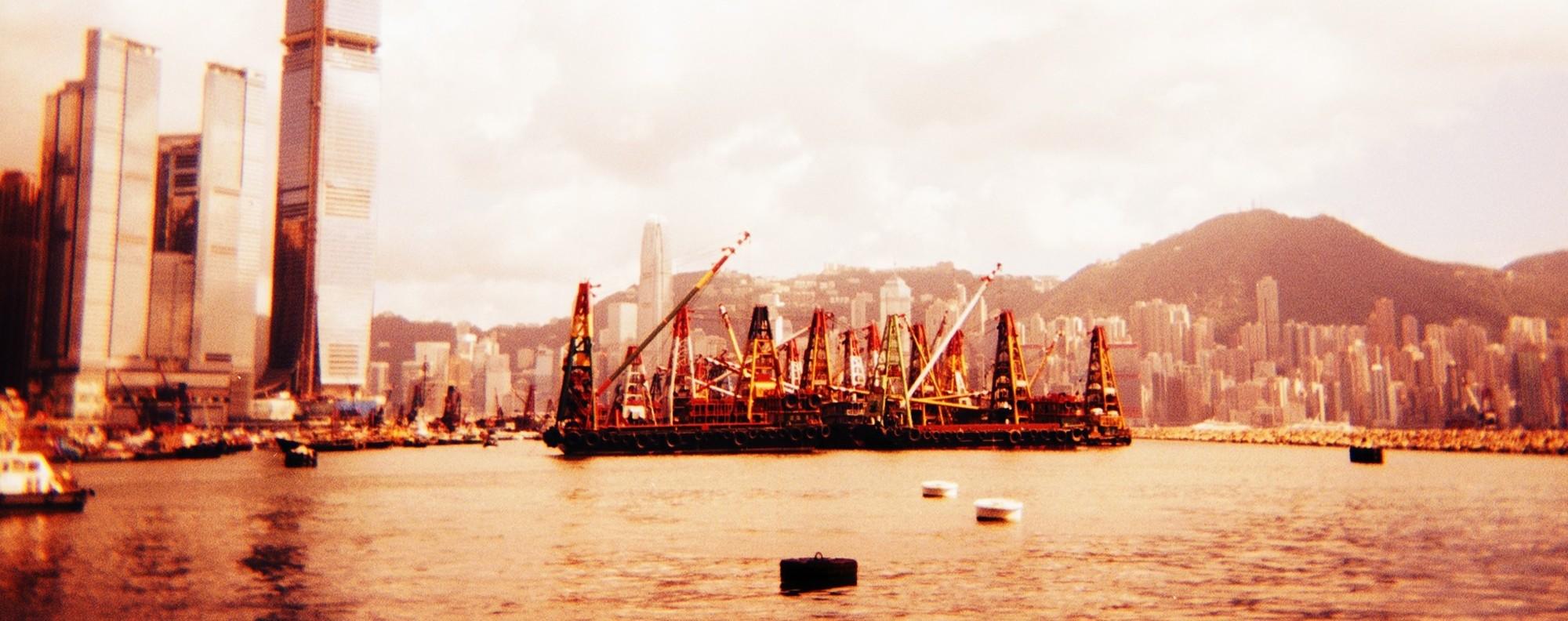 Victoria Harbour shot using a Holga camera. Picture: Justin Lim