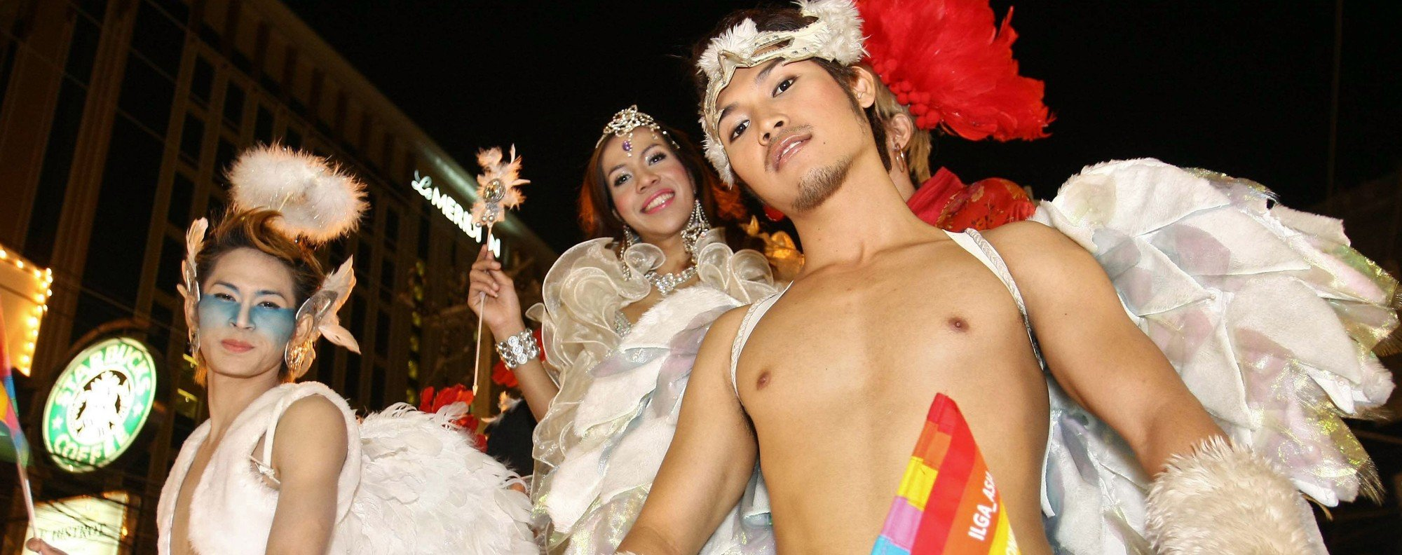 A gay pride event in Chiang Mai. Photo: AFP