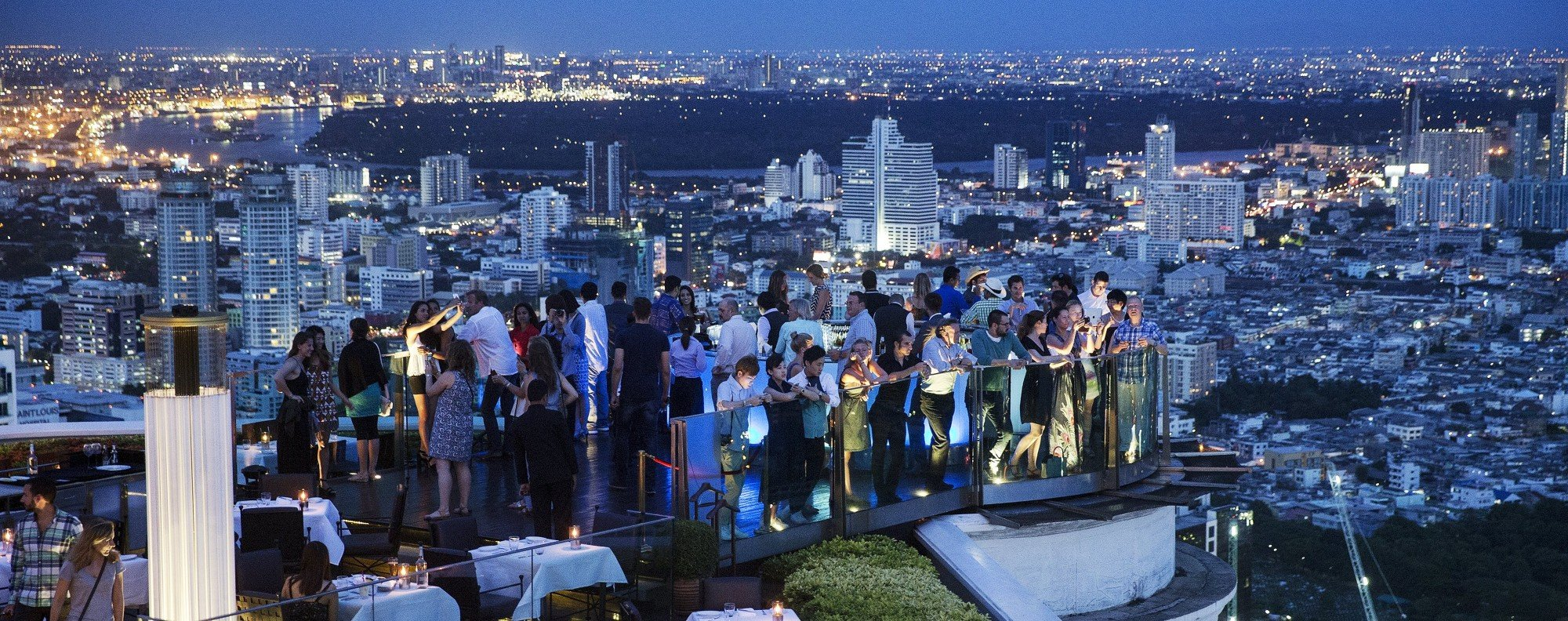 A rooftop bar in central Bangkok. Photo: Reuters