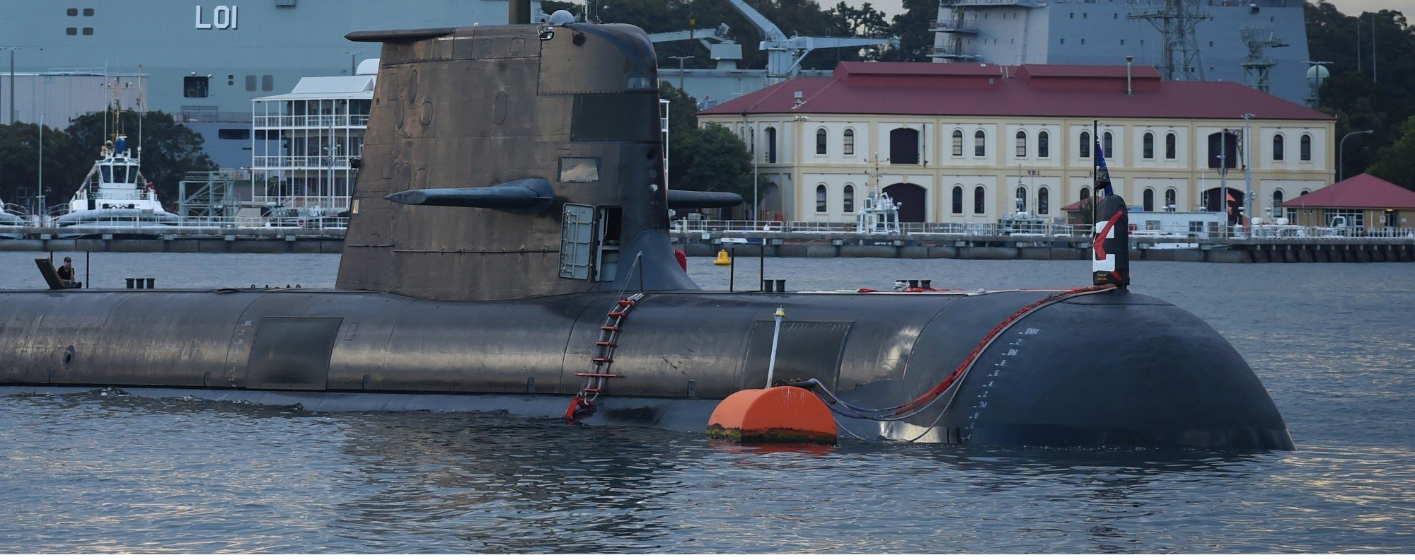 A Royal Australian Navy sub in Sydney Harbour. Photo: AFP
