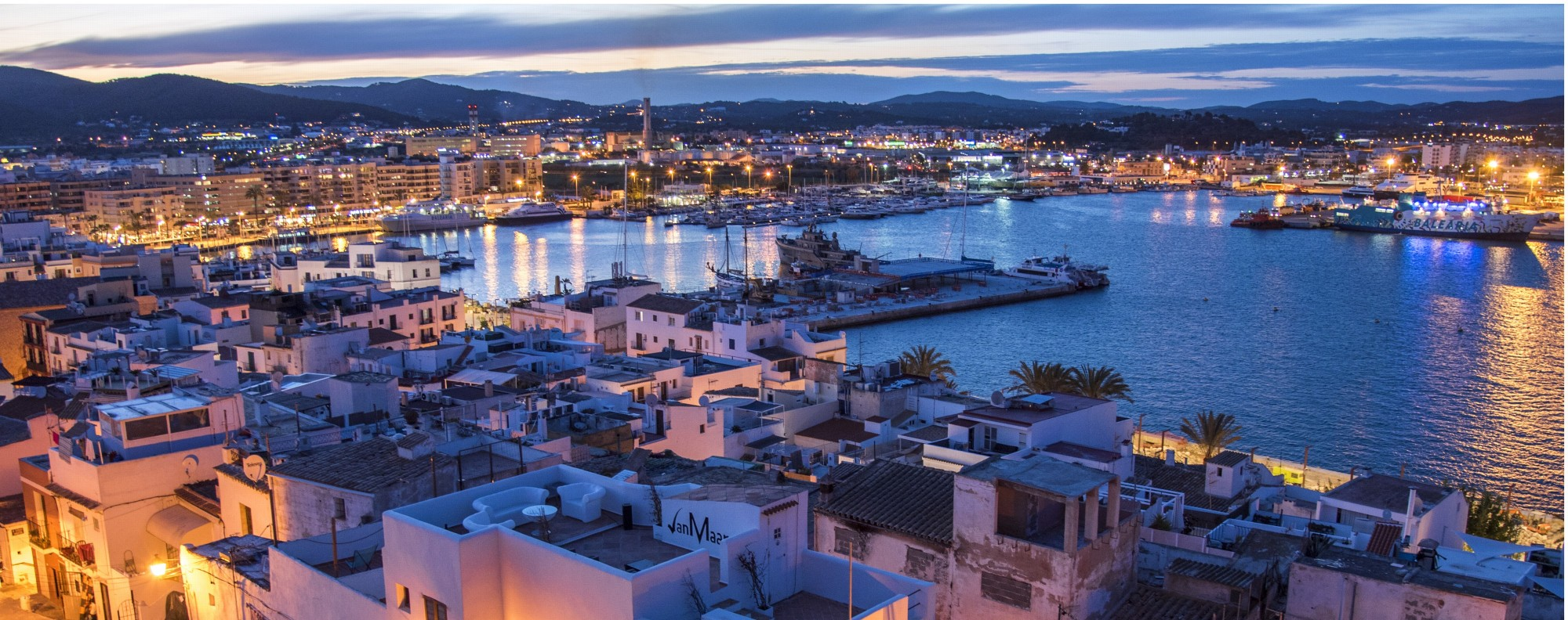 Ibiza Town as seen from the castle. Picture: Tim Pile