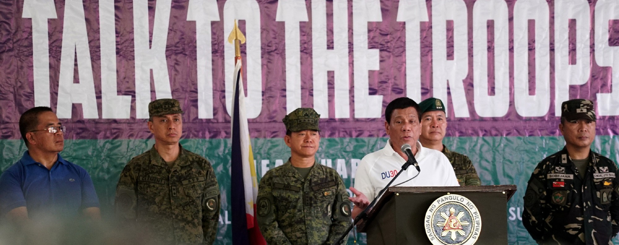 Duterte enjoys strong support from the military. Photo: AFP