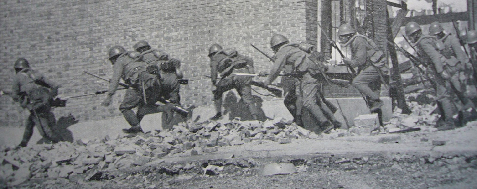 Japanese soldiers attack Wanping town in 1937. Handout photo