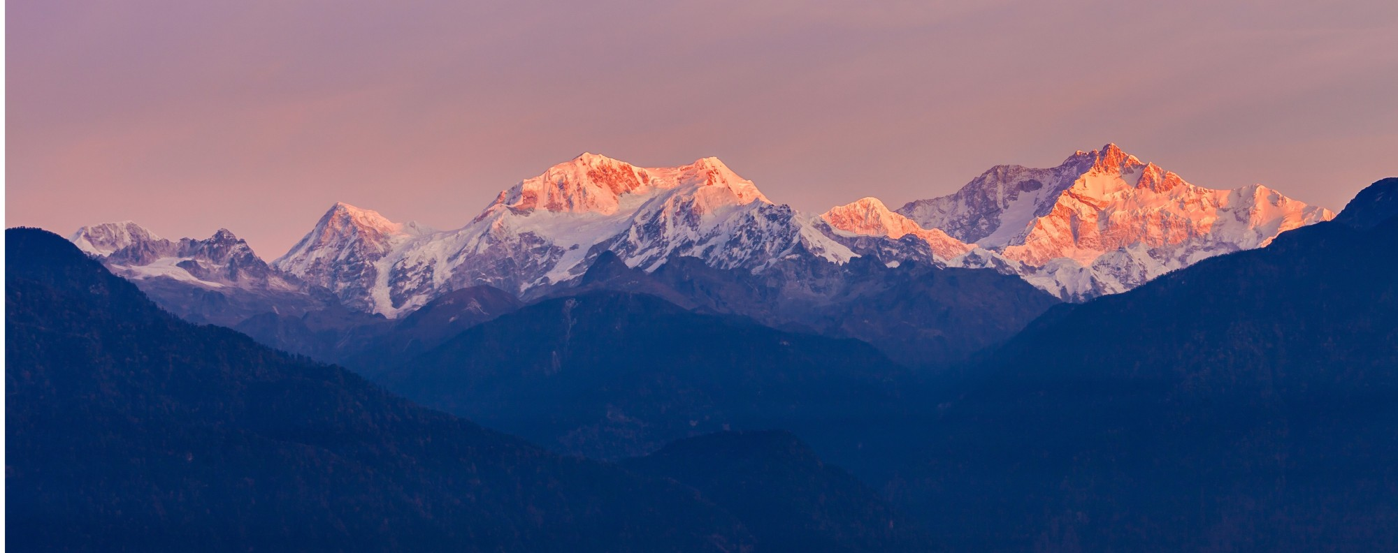 Kangchenjunga sunrise view from Sikkim, India. Handout photo