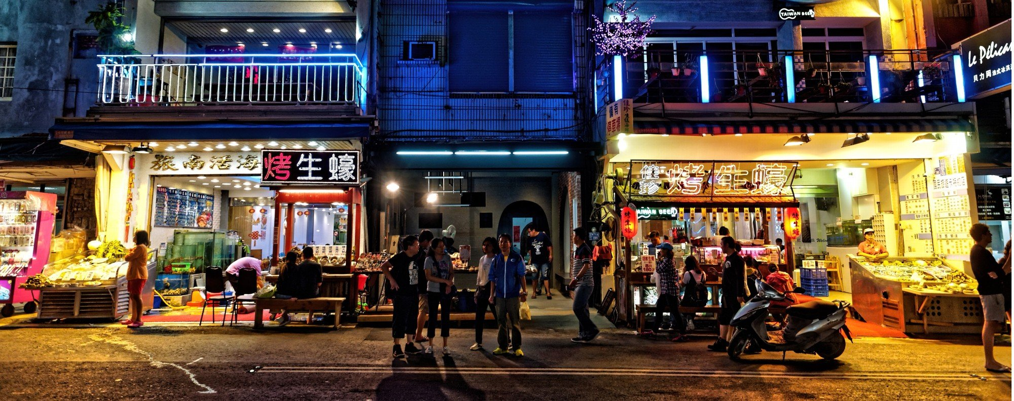 The night market in Kenting. Picture: Martin Williams