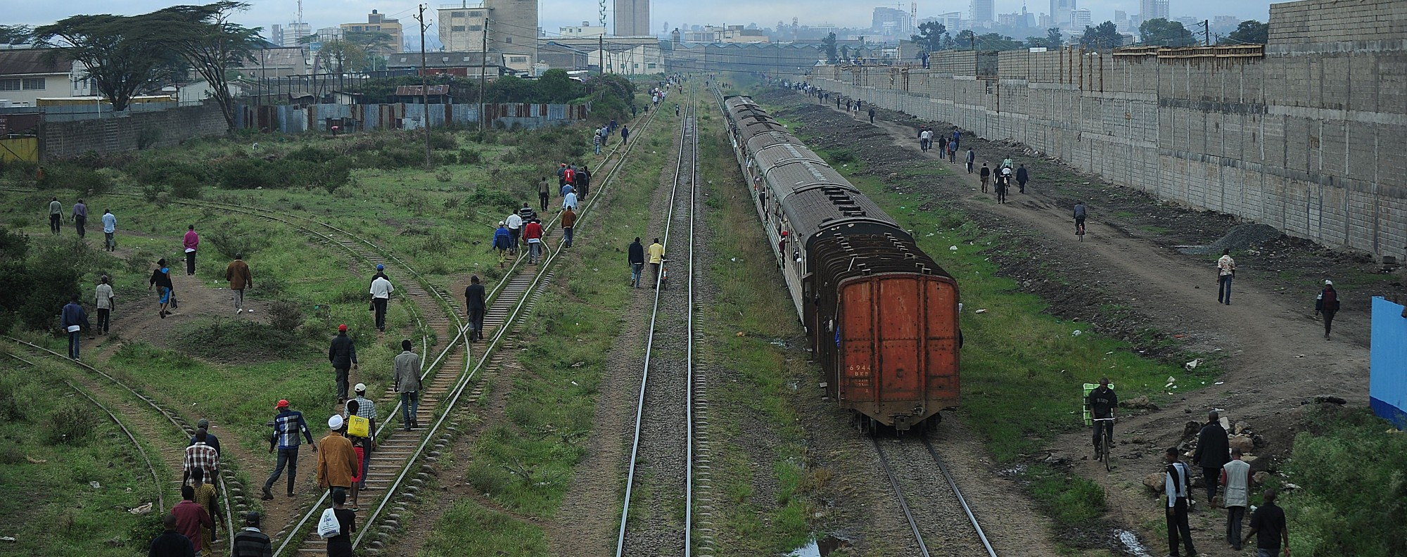 "The ""lunatic line"" heads into Nairobi, Kenya. Picture: AFP"