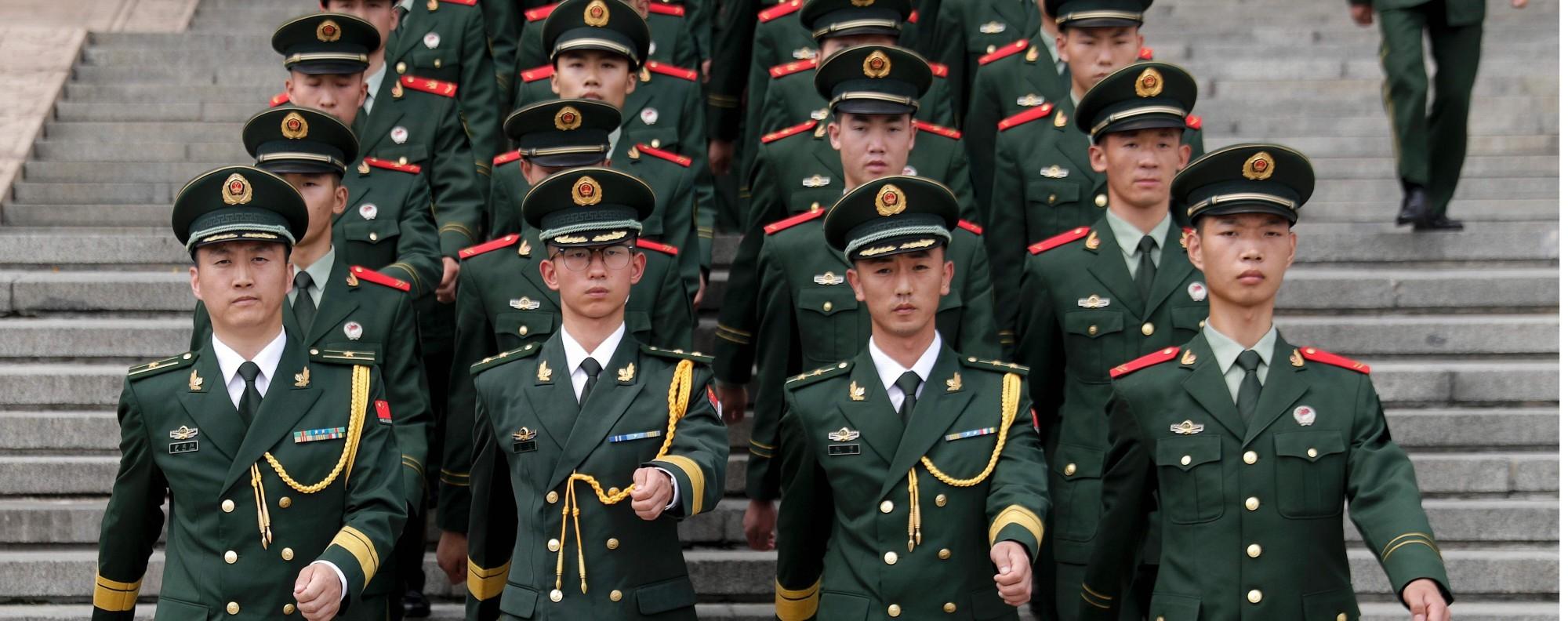 Chinese paramilitary policemen. Photo: AFP