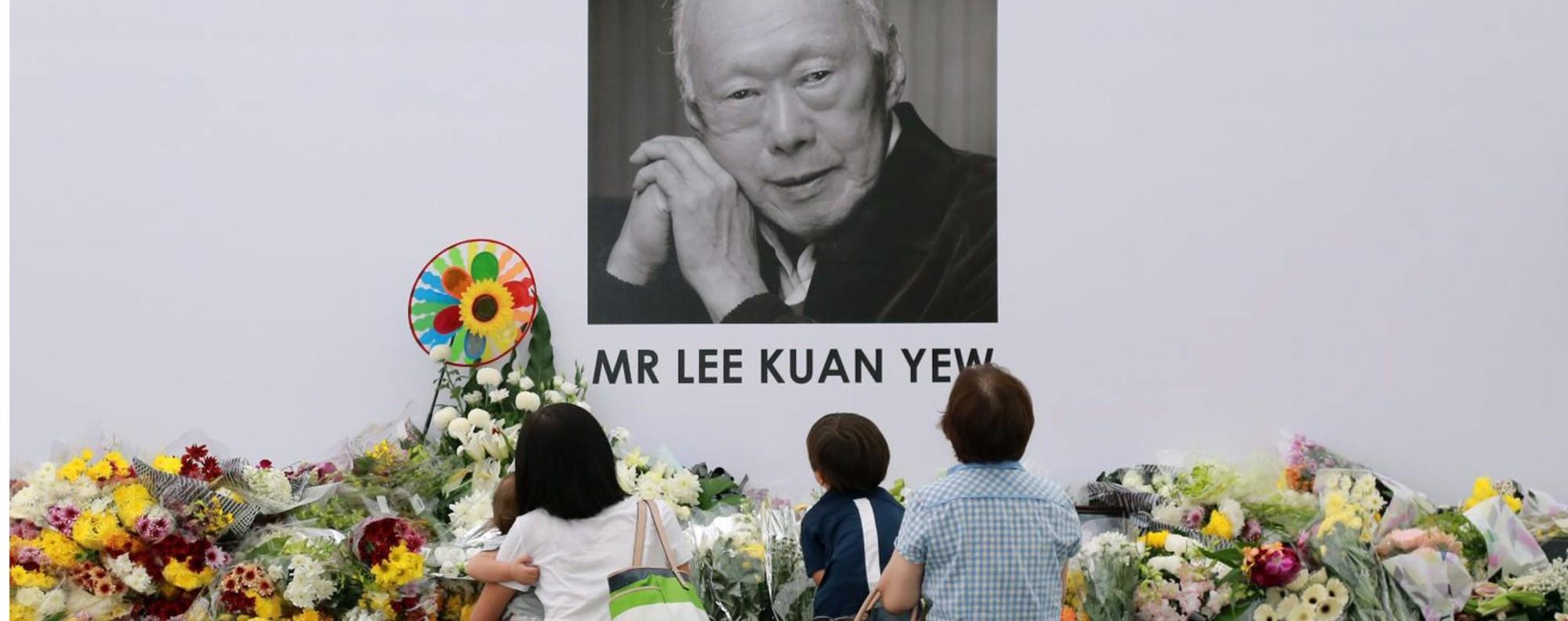 A memorial to Lee Kuan Yew. Photo: EPA