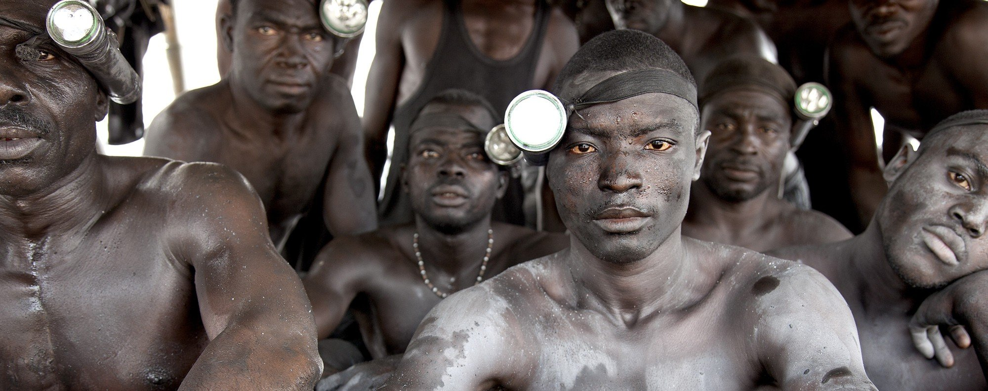Men enslaved in illegal gold mining in Ghana. Picture: Lisa Kristine