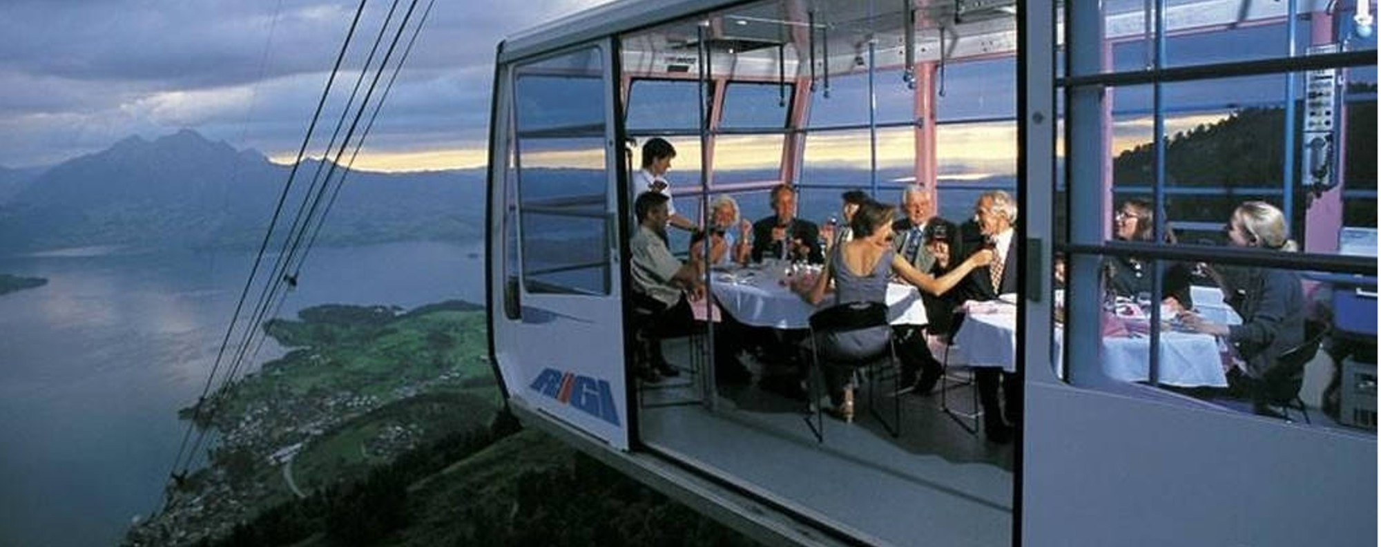 The Restaurant in the Sky, Lucerne, Switzerland.