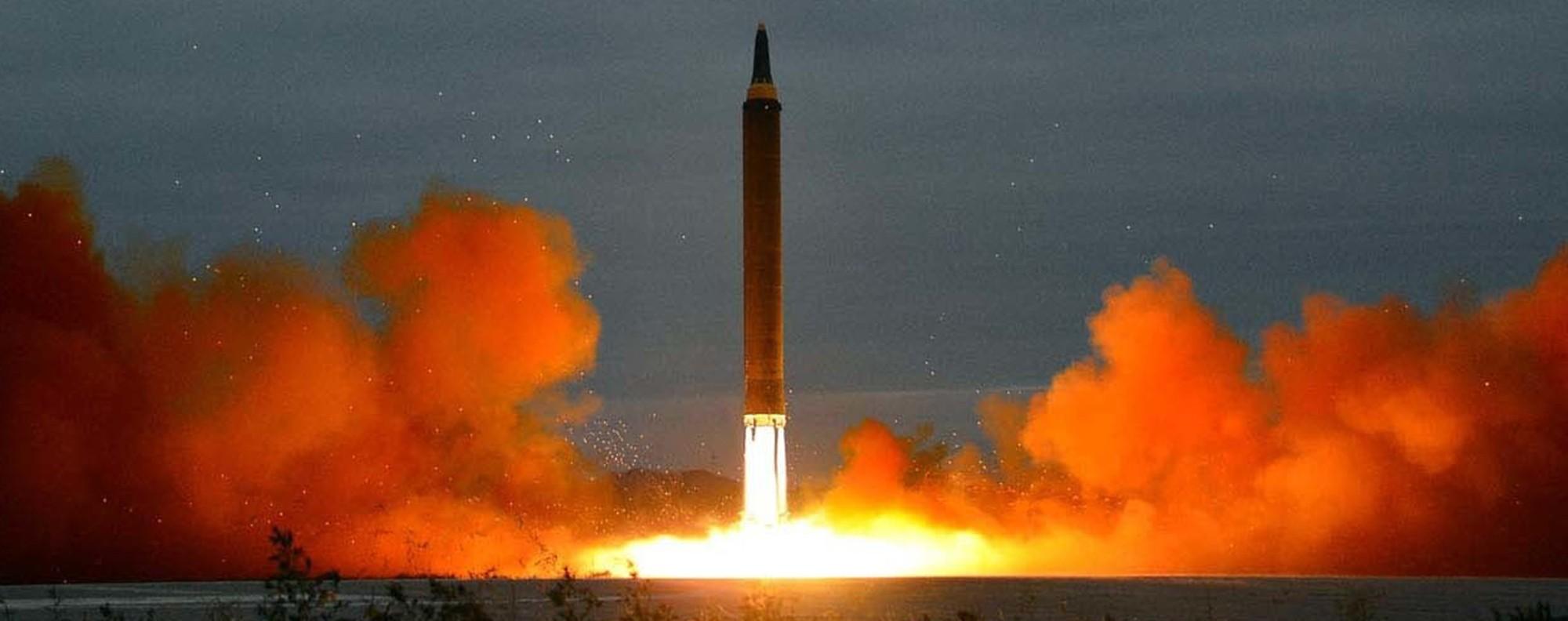A North Korean missile. Photo: AP