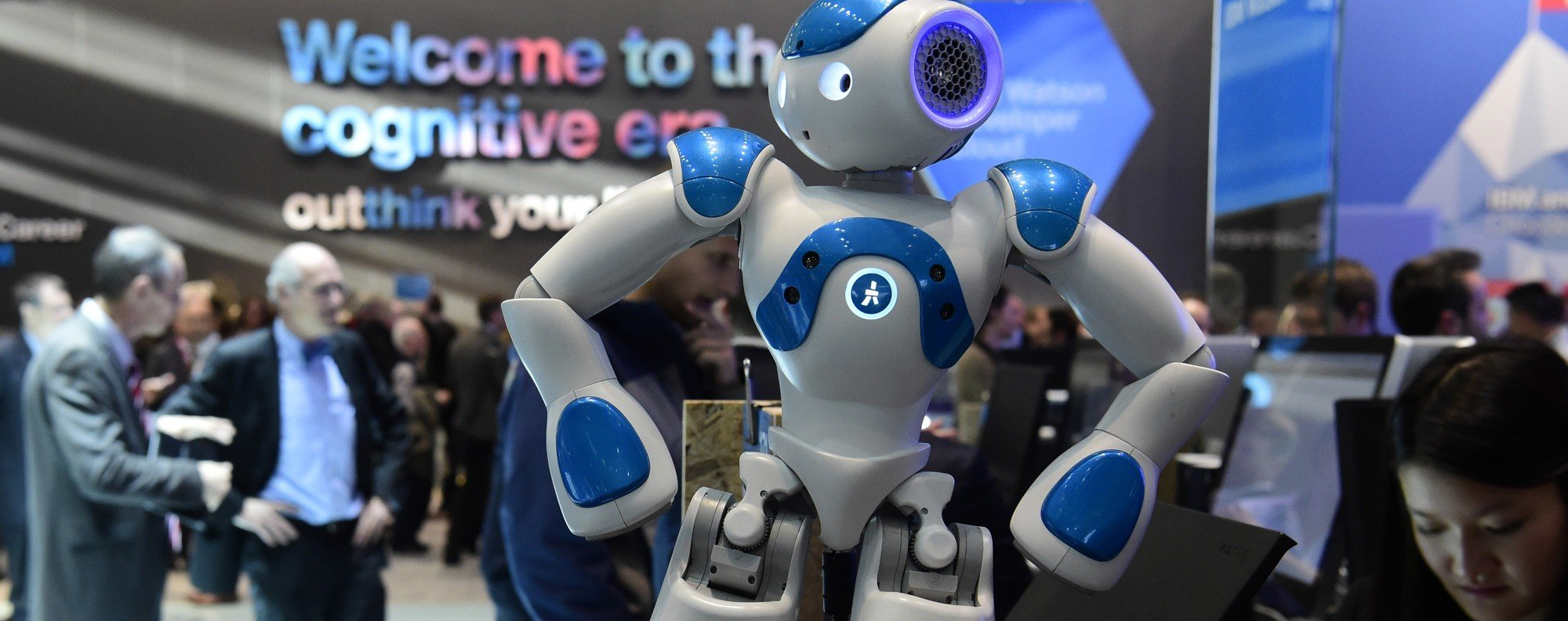 A robot made by IBM's Watson AI department. Photo: AFP