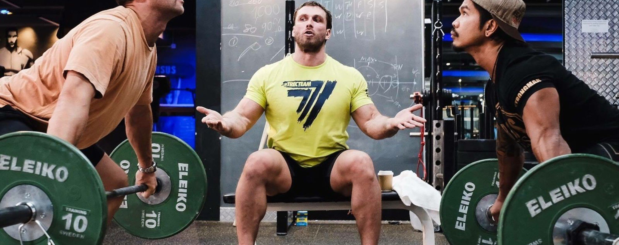 Dmitry Klokov teaches weightlifting at URSUS Fitness in Sai Ying Pun. Photo: Pan Peng