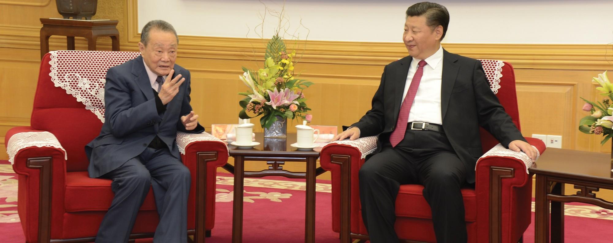 Robert Kuok and Xi Jinping. Photo: Robert Kuok, A Memoir