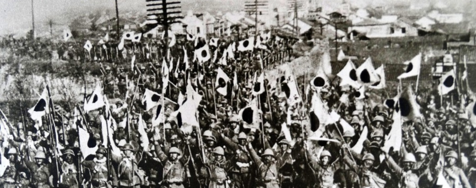 Japanese troops in Nanking after the city's conquest in 1937. Picture: Alamy