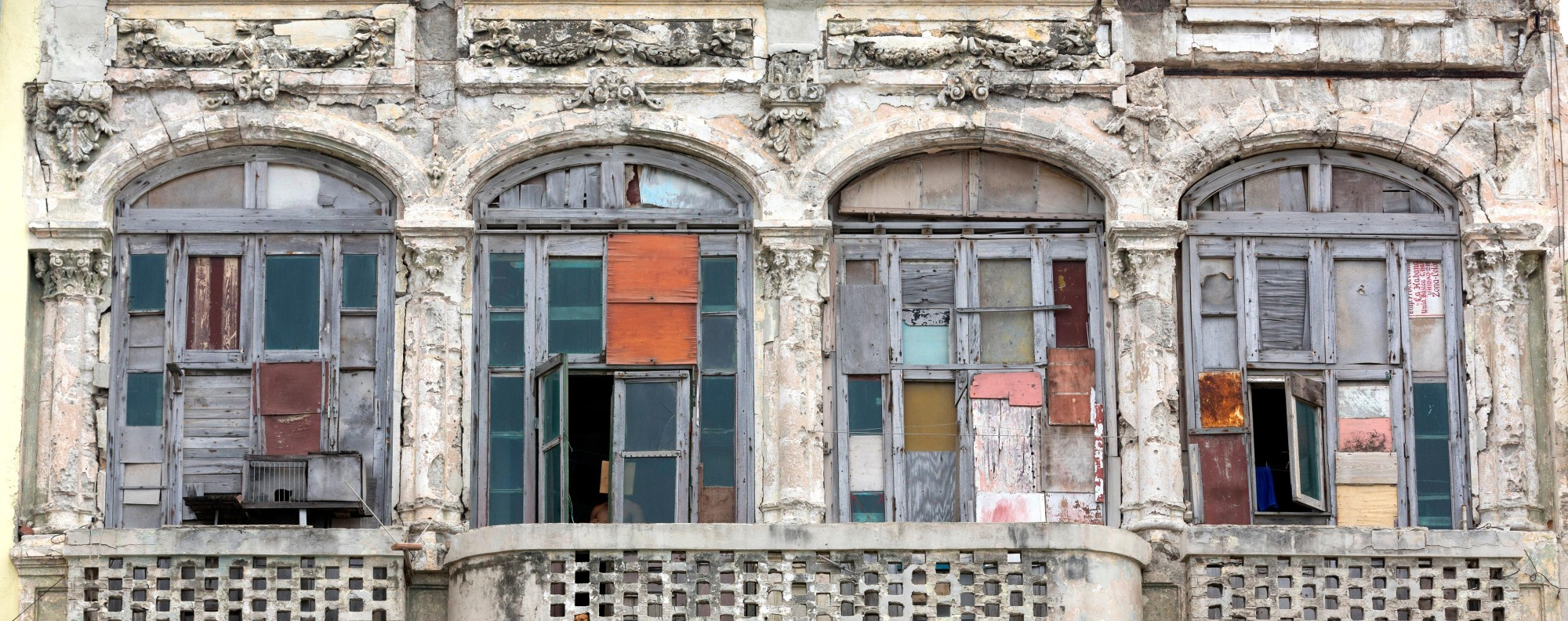 A weather-beaten house front on the Malecon in Havana. Picture: Alamy