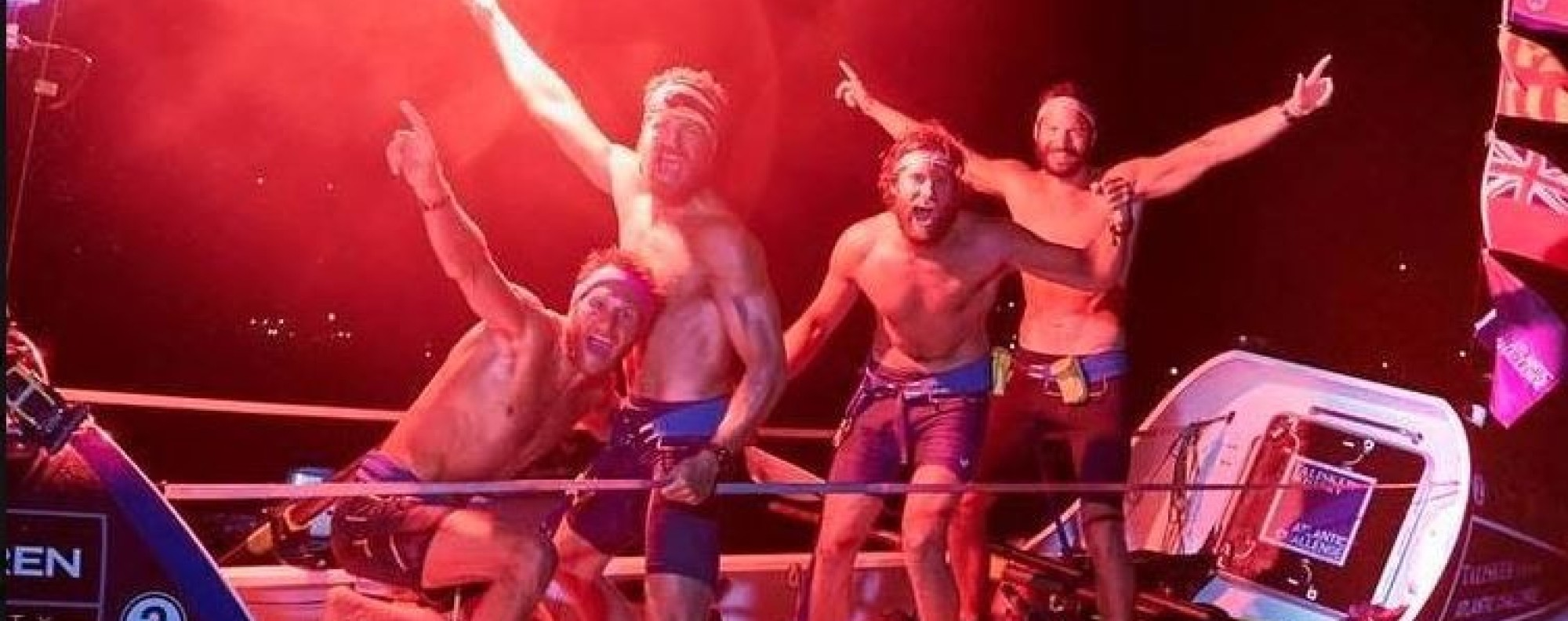 The Four Oarsmen become the first team to row the Atlantic in under 30 days. Photo: Four Oarsmen