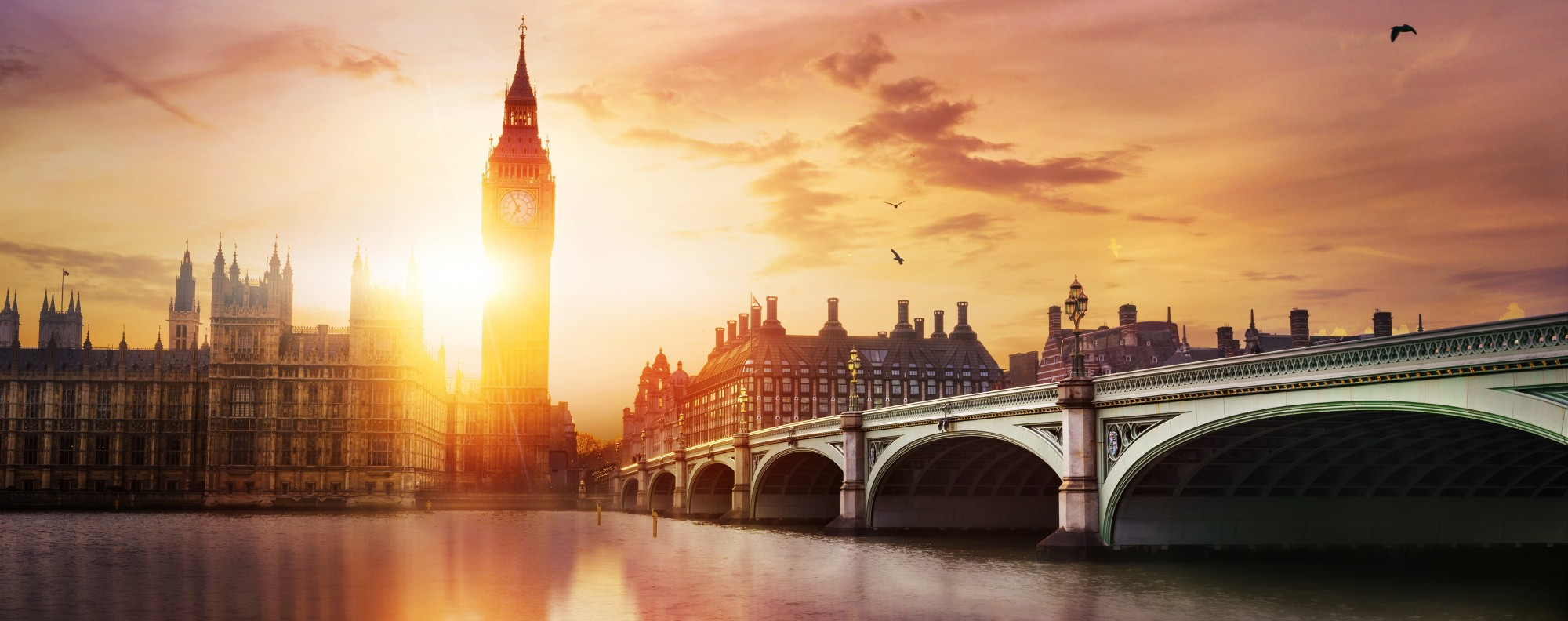 Big Ben, in London.