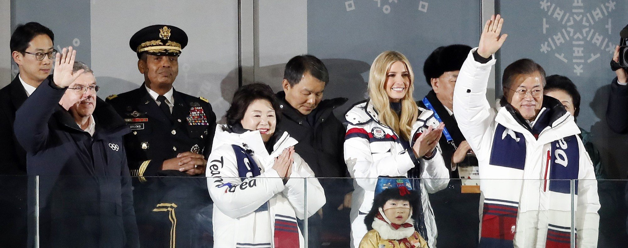 Moon Jae-in at the Olympics closing ceremony. Photo: Reuters