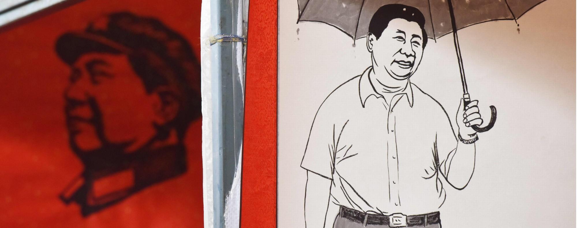 Mao and Xi. Photo: AFP