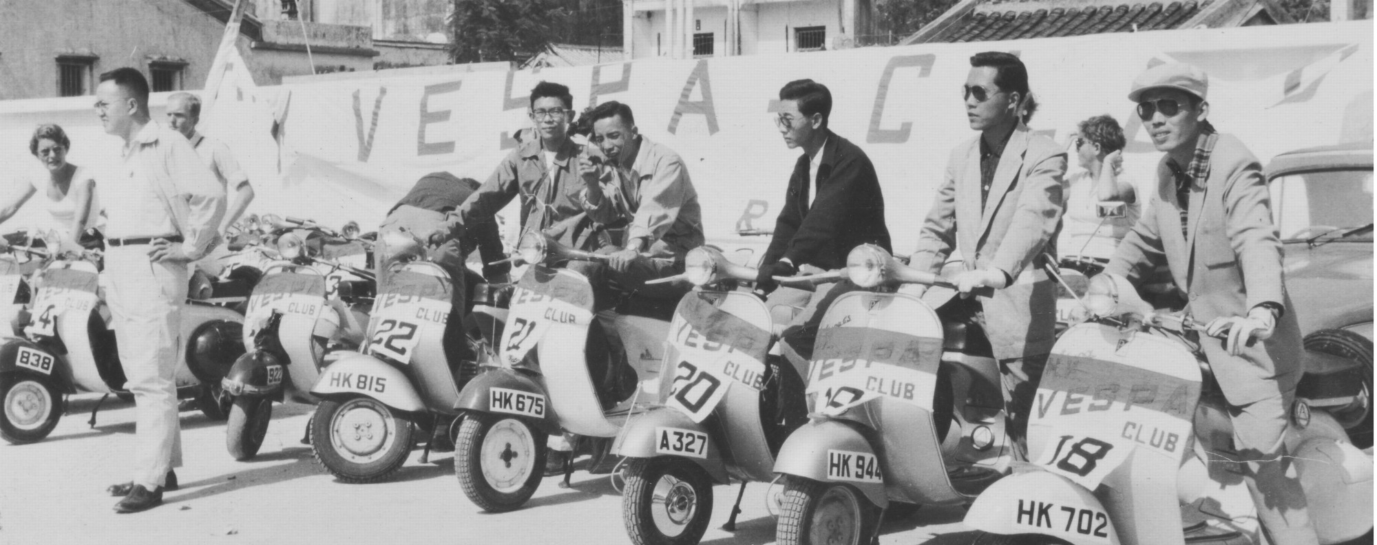 The Vespa Club in the New Territories, circa 1960.