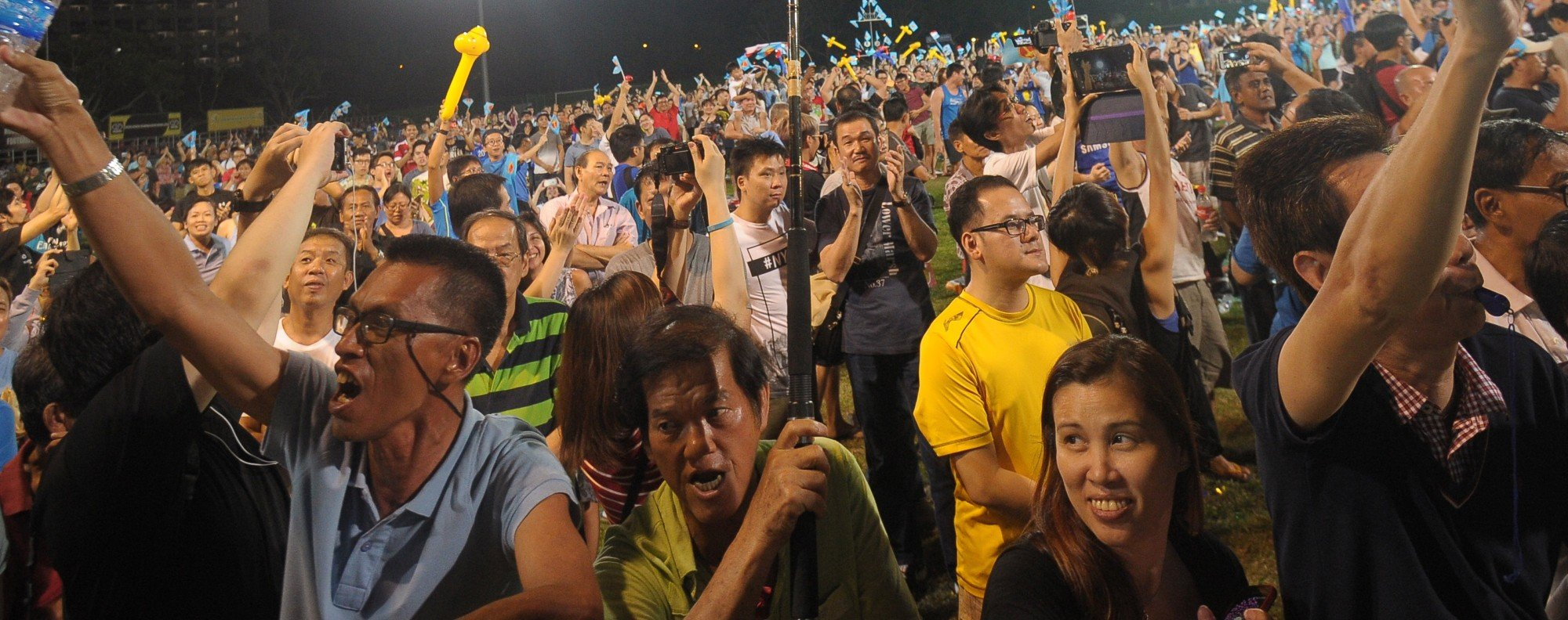 An opposition rally in Singapore. Photo: AFP