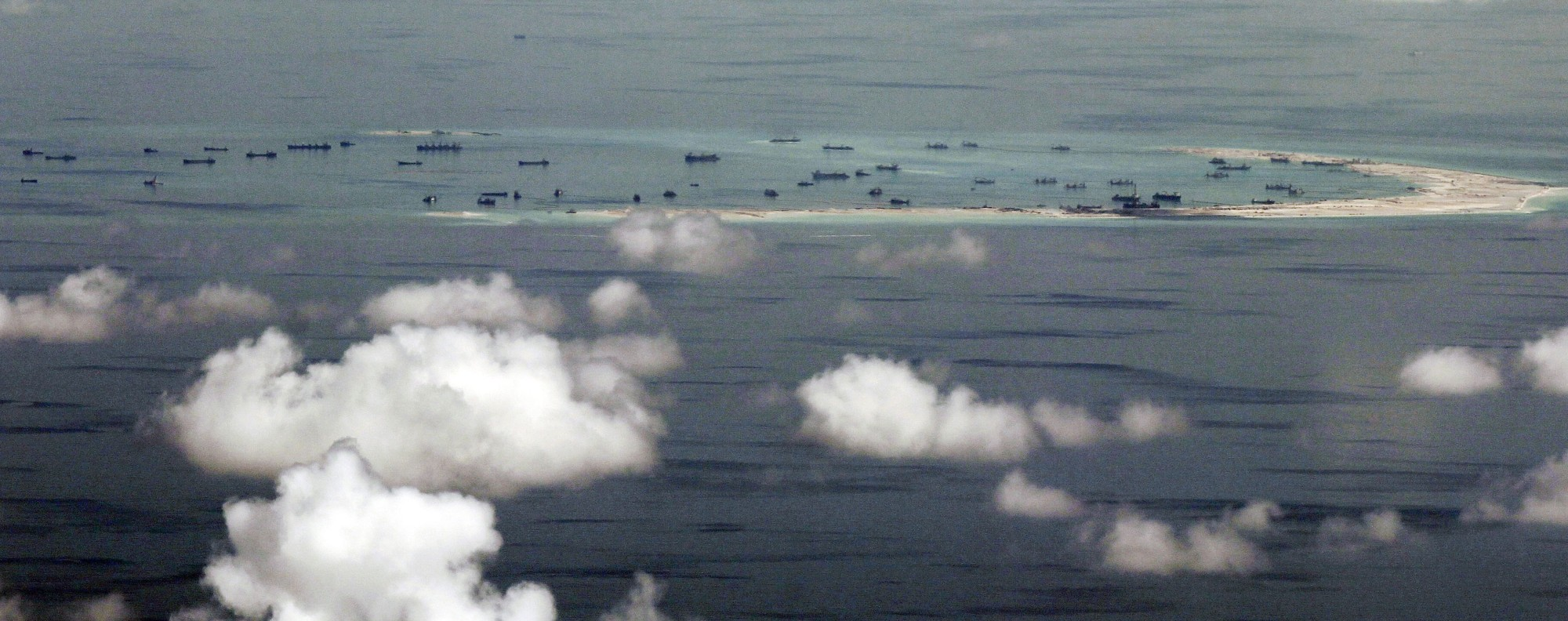 Mischief Reef in the South China Sea. Photo: AFP