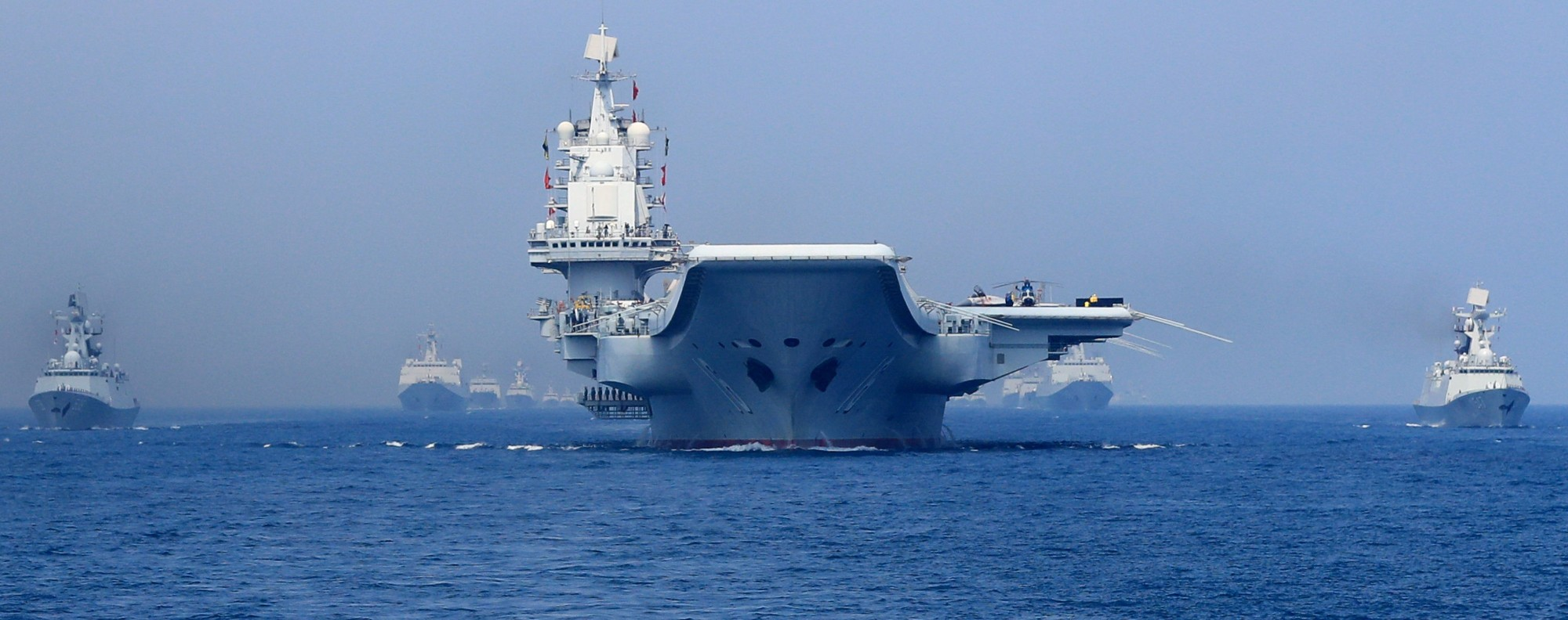 The PLA navy in the South China Sea. Photo: Reuters